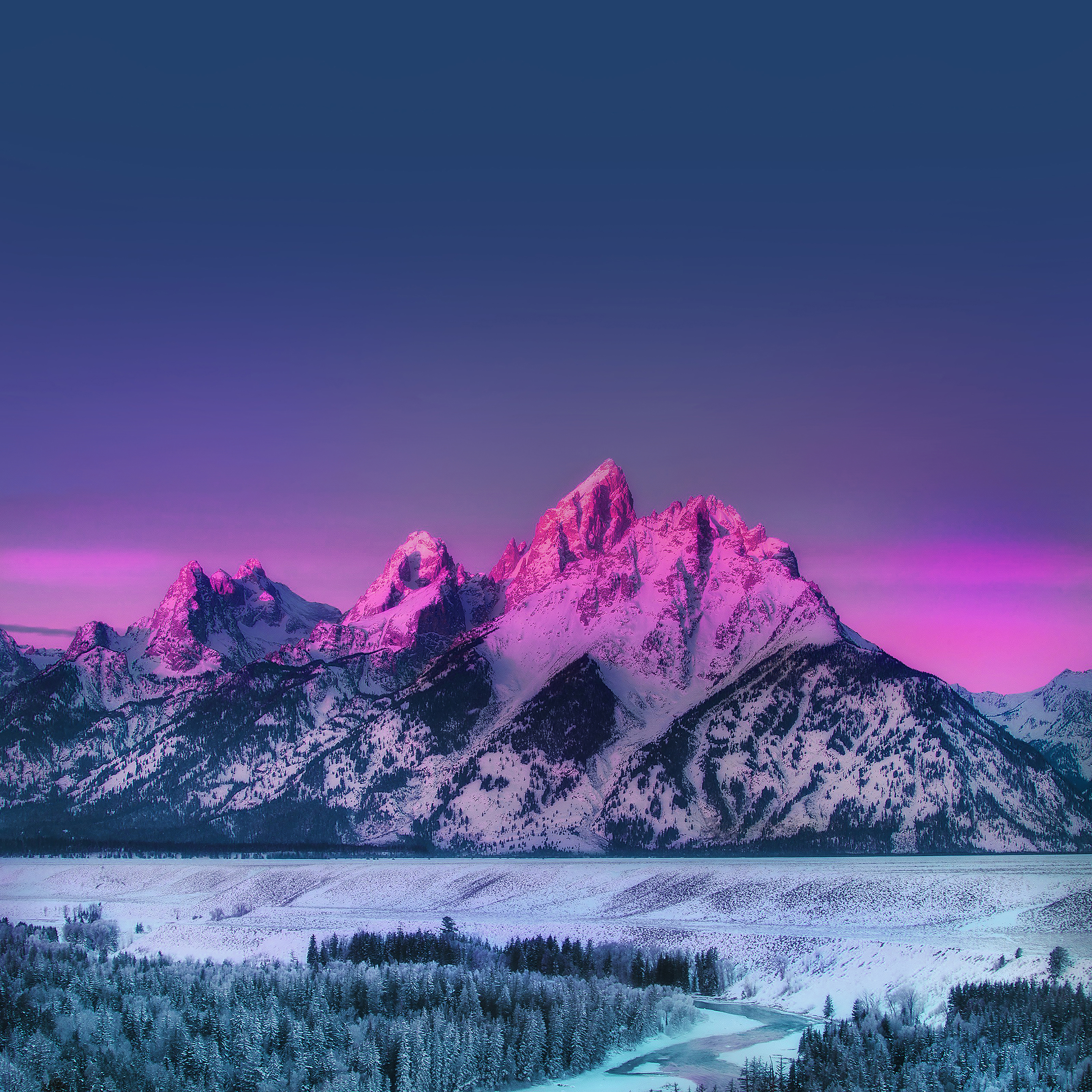 Mg91-mountain-mother-blue-sunset-nature-awesome-sky-wallpaper