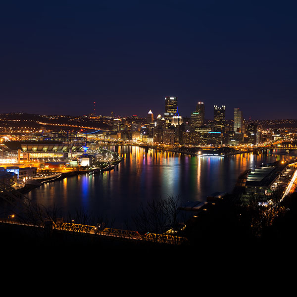 Pittsburgh Skyline: Mh19-pittsburgh-skyline-night-cityview-nature
