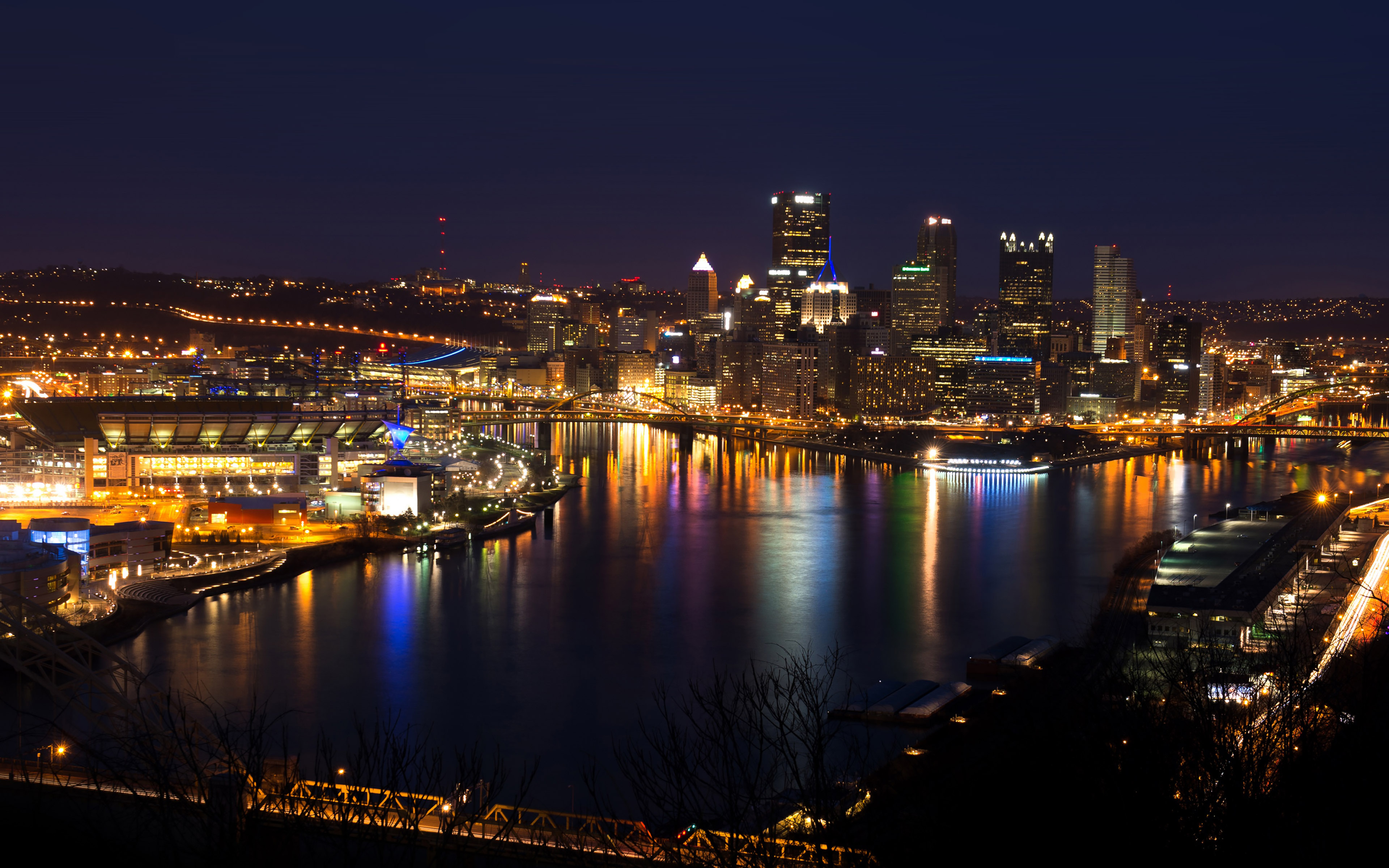 mh19-pittsburgh-skyline-night-cityview-nature - Papers.co