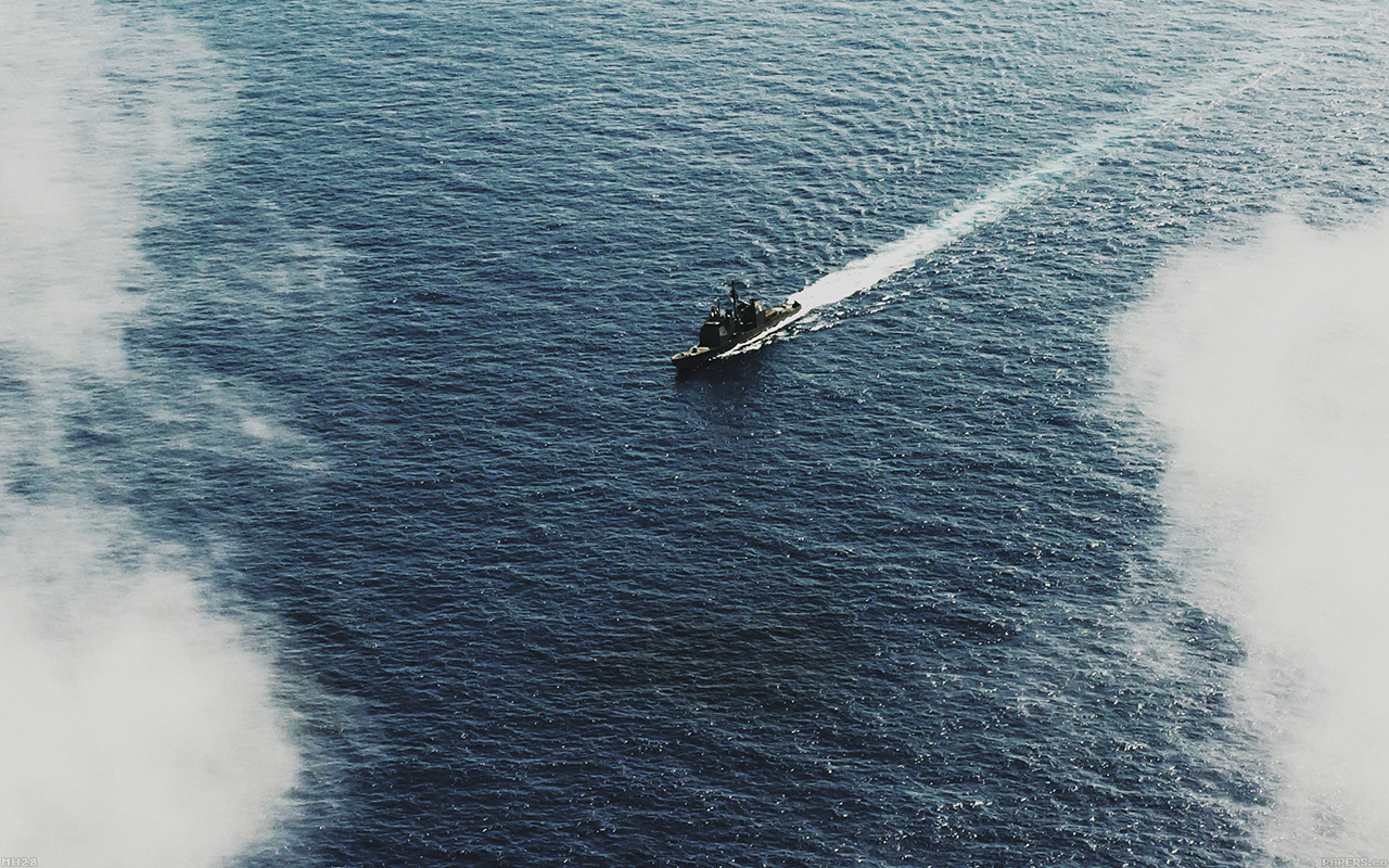 Ani Army Parallax Hd Iphone Ipad Wallpaper: Mh28-ocean-ship-sea-sunny-day-pacific-nature-military-army