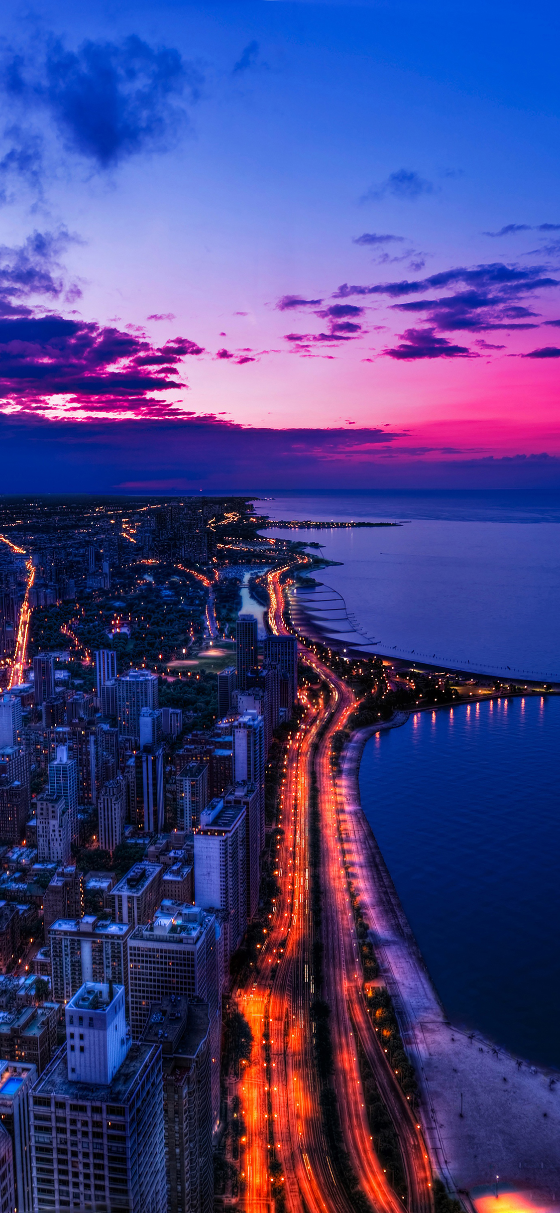 mh45-chicago-city-night-sky-view-scape-ocean-beach - papers.co