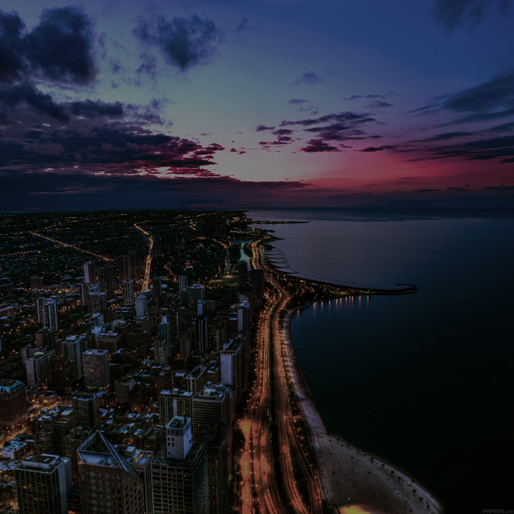 android-wallpaper-mh46-chicago-city-night-sky-view-scape-dark-ocean-beach-wallpaper