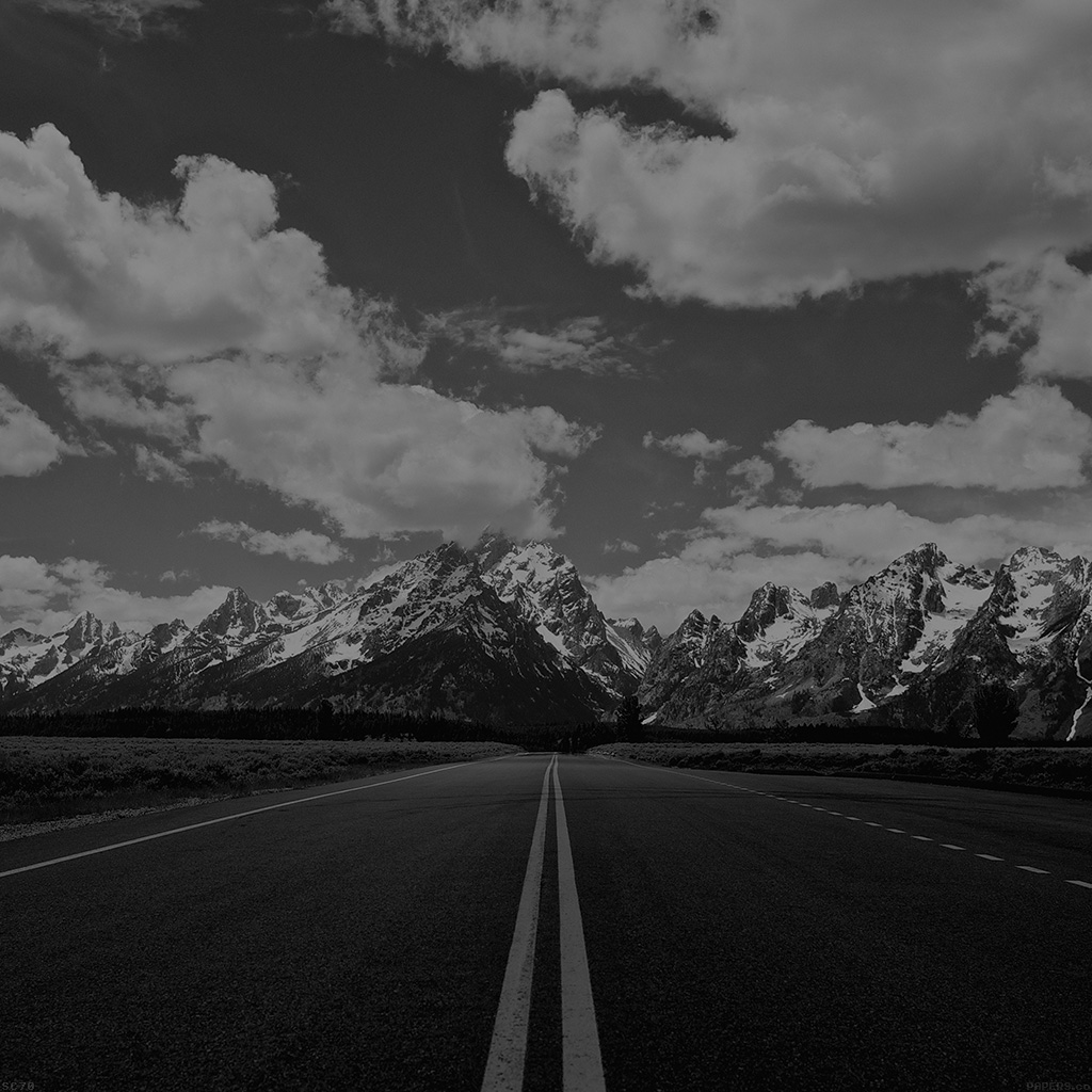 wallpaper-mh67-road-to-sky-mountain-hightway-bw-nature-wallpaper