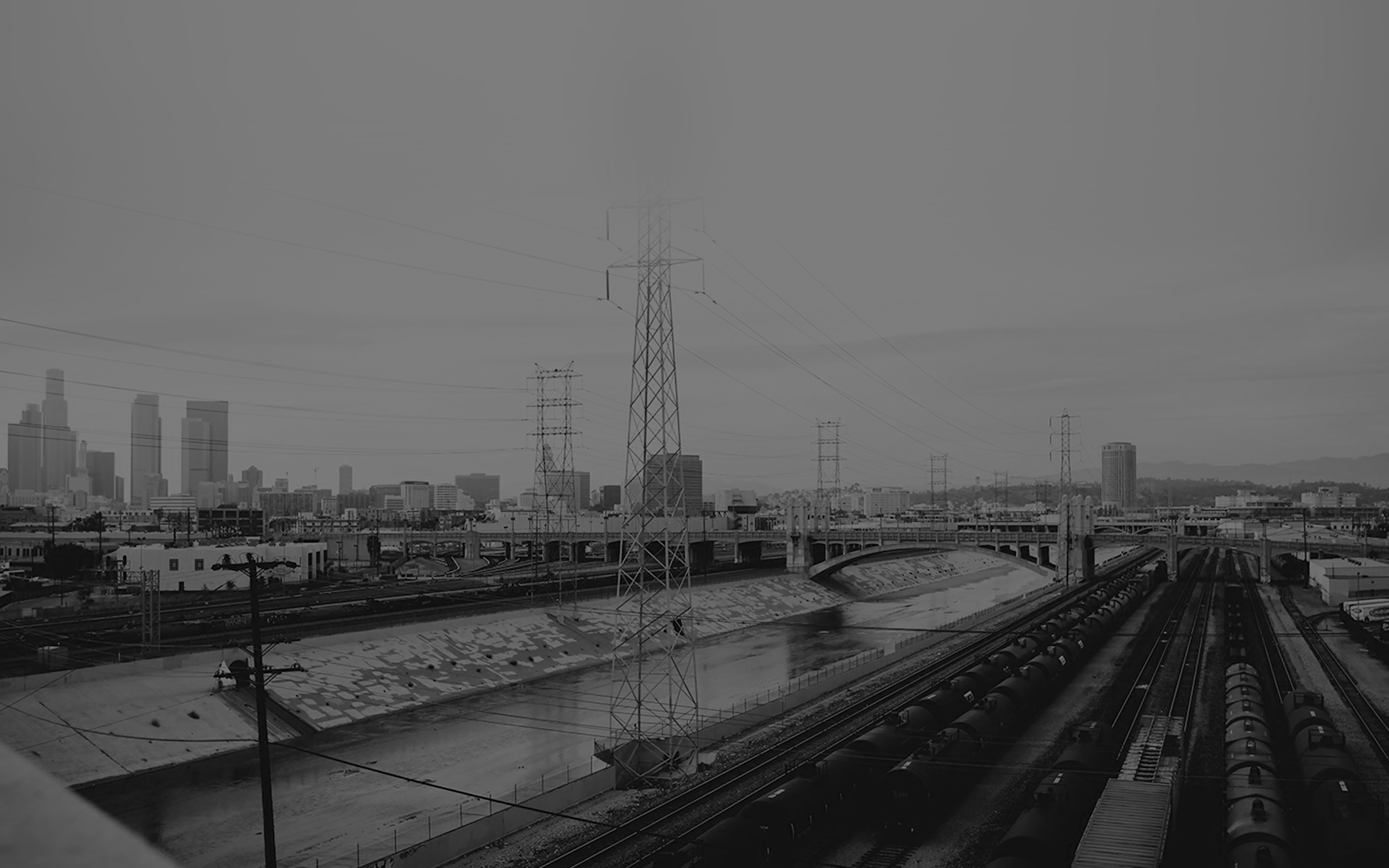 Mi01 Los Angeles Railroad Station City Black Wallpaper