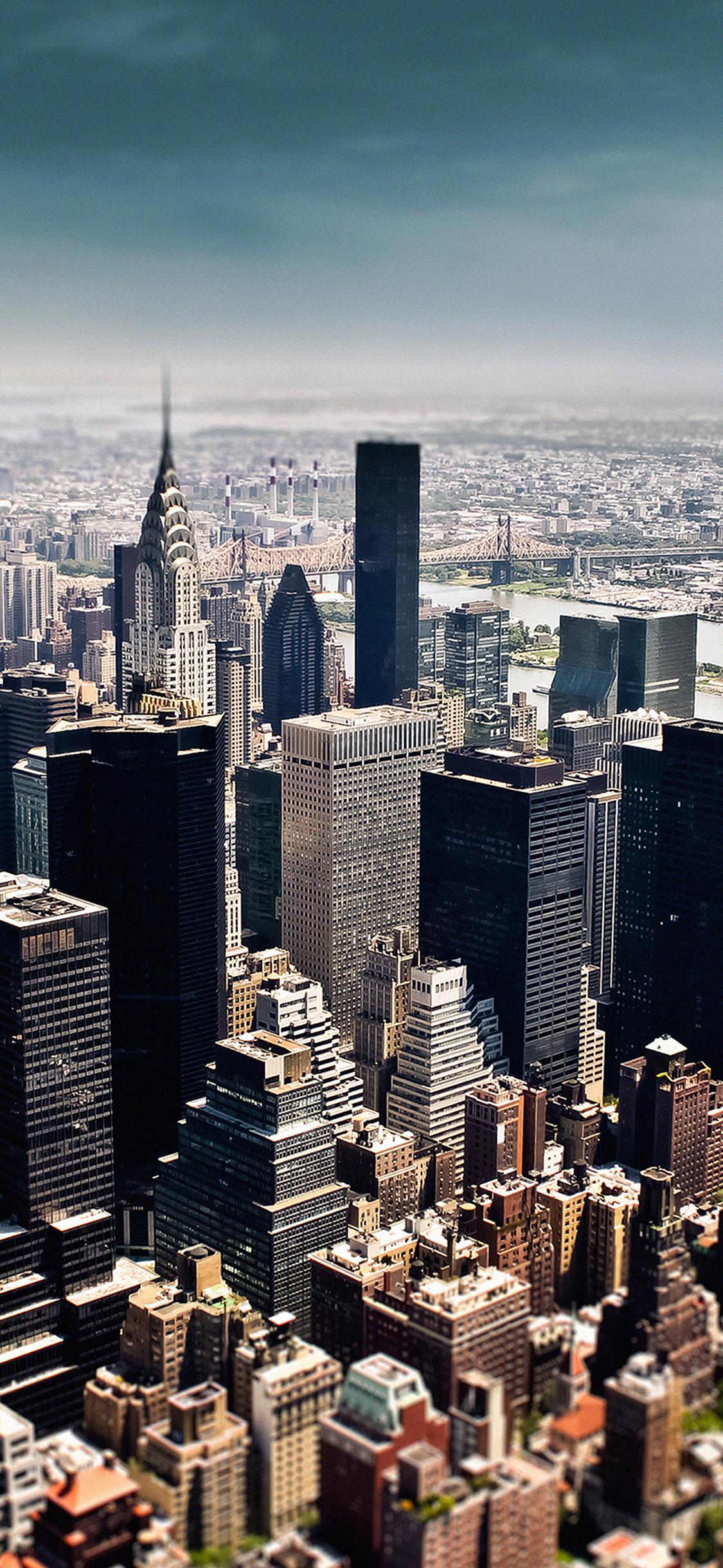 Iphonexpapers Mi03 New York Sky Tilt Shift City
