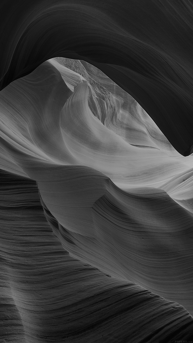 iPhone6papers.co-Apple-iPhone-6-iphone6-plus-wallpaper-mi29-antelope-canyon-bw-black-mountain-rock-nature