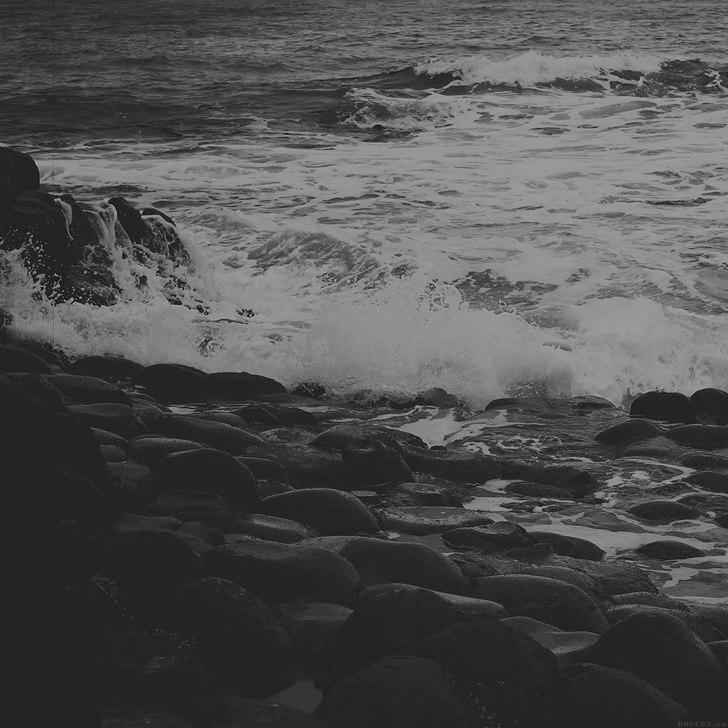 wallpaper-mi48-wet-sea-beach-wave-bw-olivia-henry-nature-wallpaper
