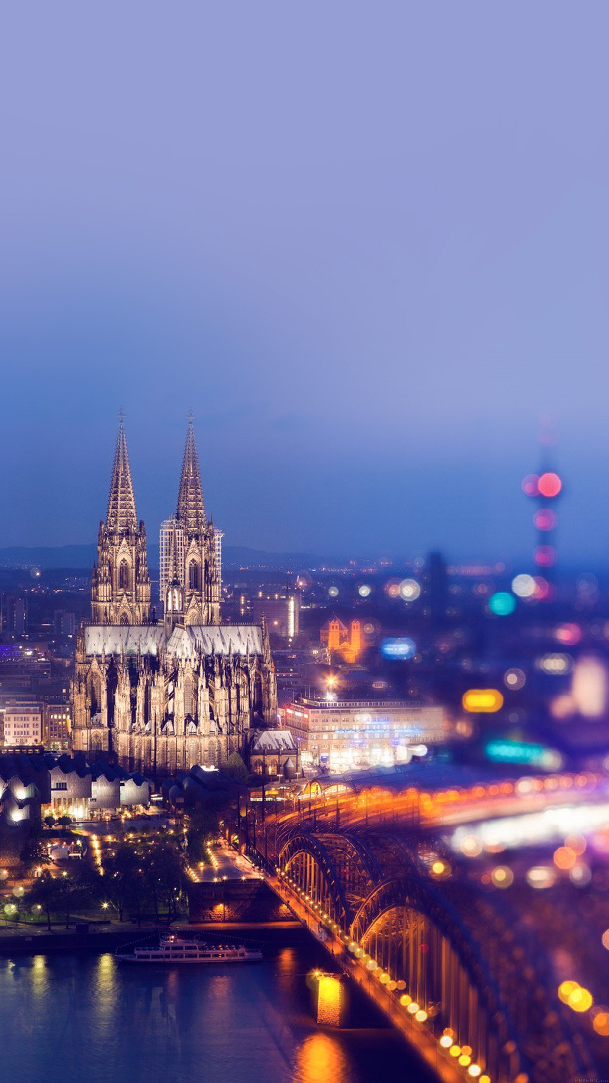 Iphone6papers Mj21 Cologne Cathedral Hohenzollern Bridge