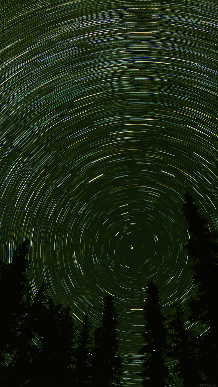 iPhone7papers.com-Apple-iPhone7-iphone7plus-wallpaper-mj73-star-trail-green-tree-space-night-nature