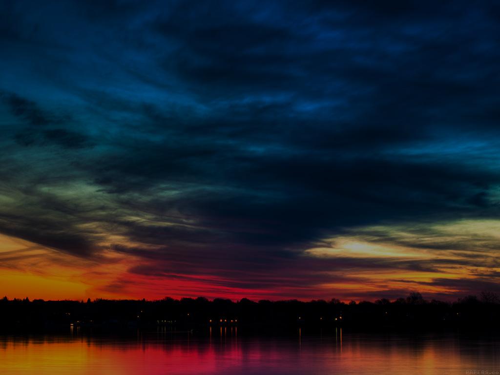 mj80-rainbow-in-the-sky-dark-lake-sea-nature-wallpaper