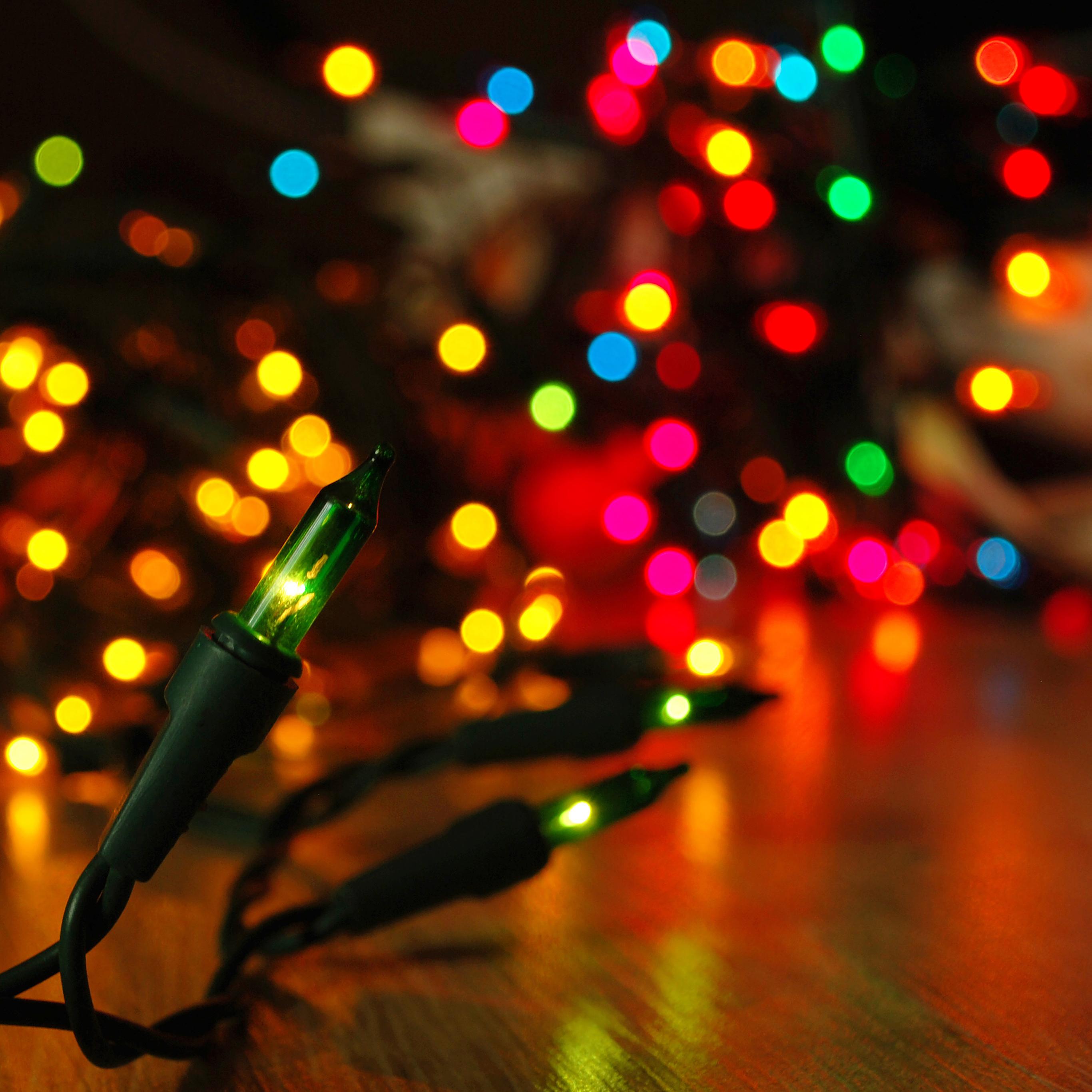 Mj85 Christmas Lights Holiday Bokeh Papers Co