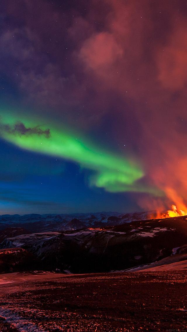 Freeios7 mj99 iceland mountain fire nature parallax hd - Iceland iphone wallpaper ...