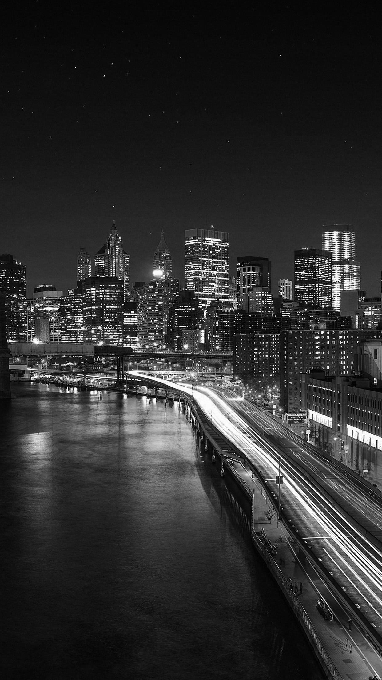 Iphone7paperscom Iphone7 Wallpaper Mk04 Night City View
