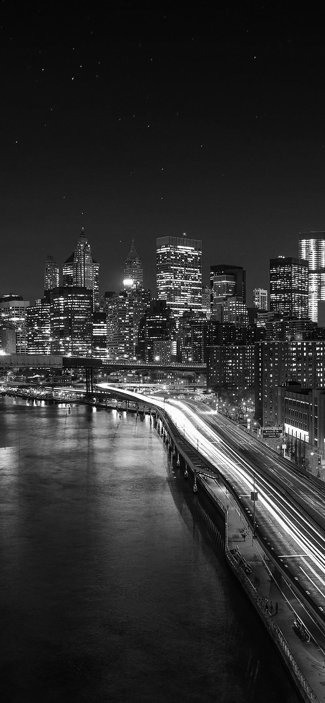 iPhoneXpapers.com-Apple-iPhone-wallpaper-mk04-night-city-view-lights-dark-bridge-nature