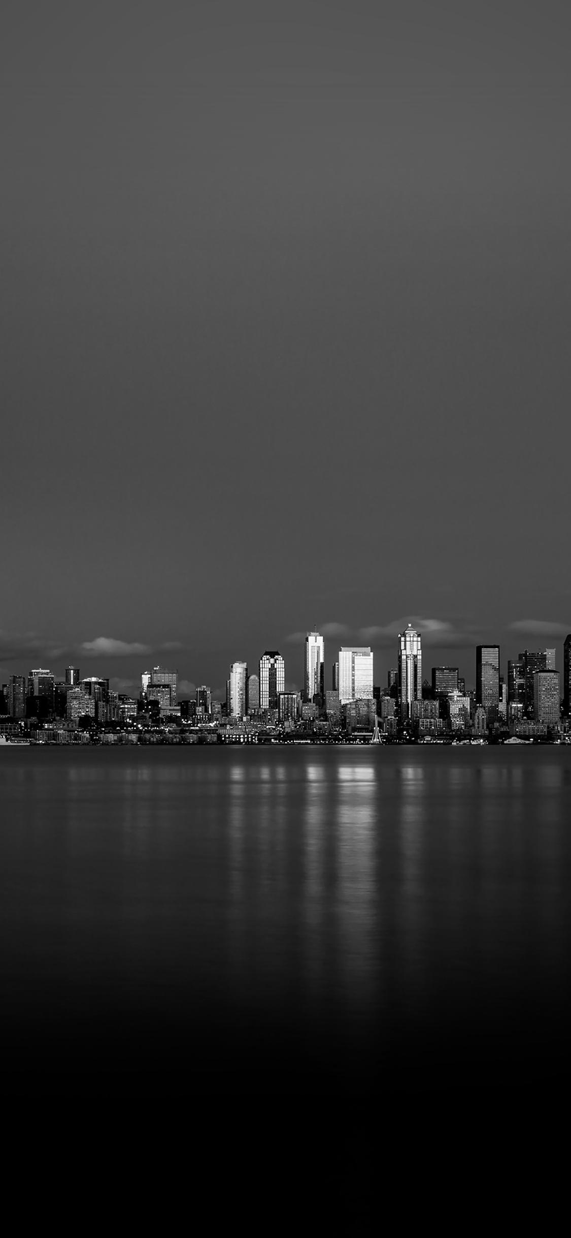 iPhoneXpapers.com-Apple-iPhone-wallpaper-mk25-night-city-view-dark-bw-nautre-art