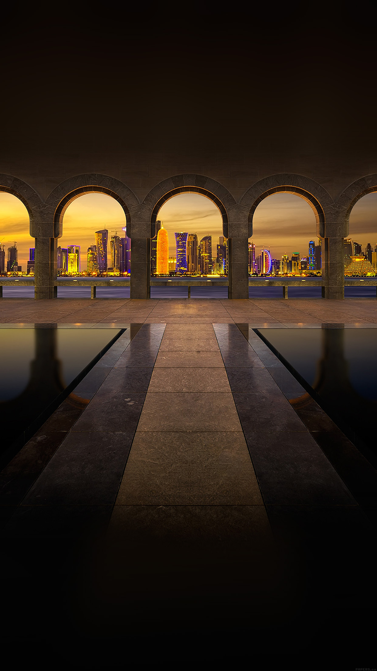 Papers Co Iphone Wallpaper Mk29 Dubai Road Bridge City