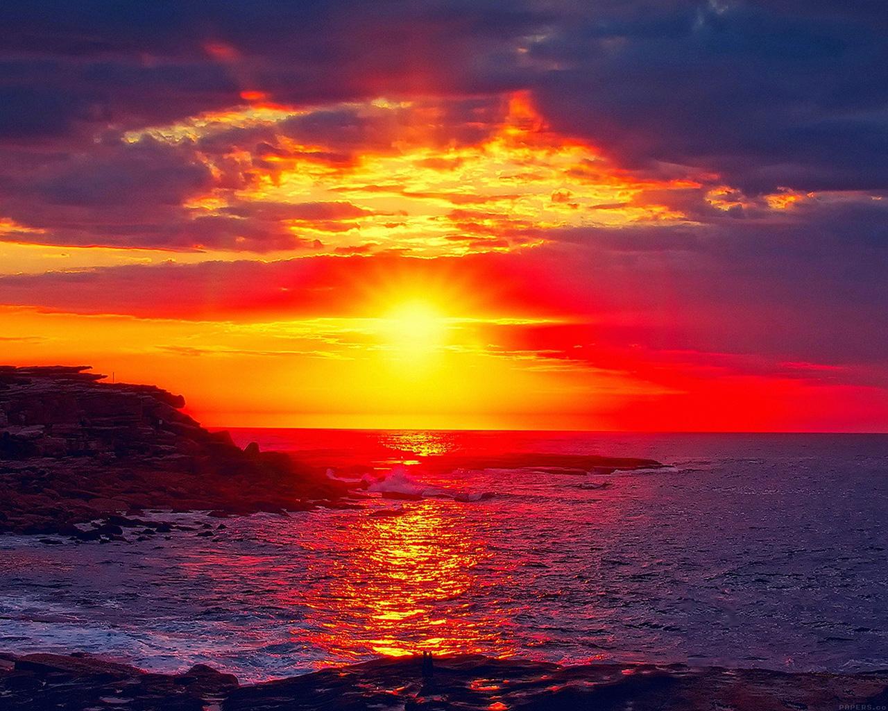 Waikiki Beach Ipad Air Wallpaper: Mk46-sunset-beach-nature-afternoon-love