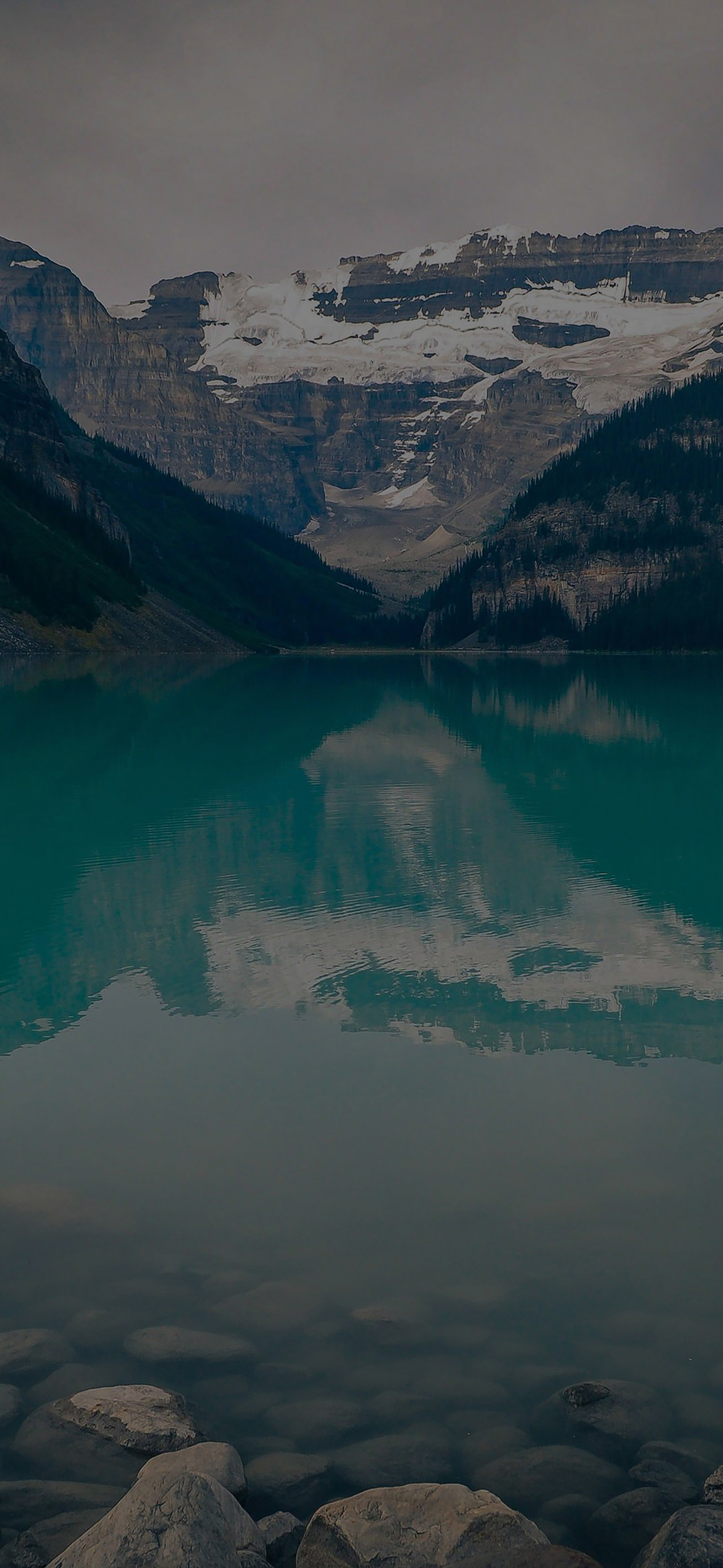 iPhoneXpapers.com-Apple-iPhone-wallpaper-mk49-canada-lake-dark-louise-green-water-nature