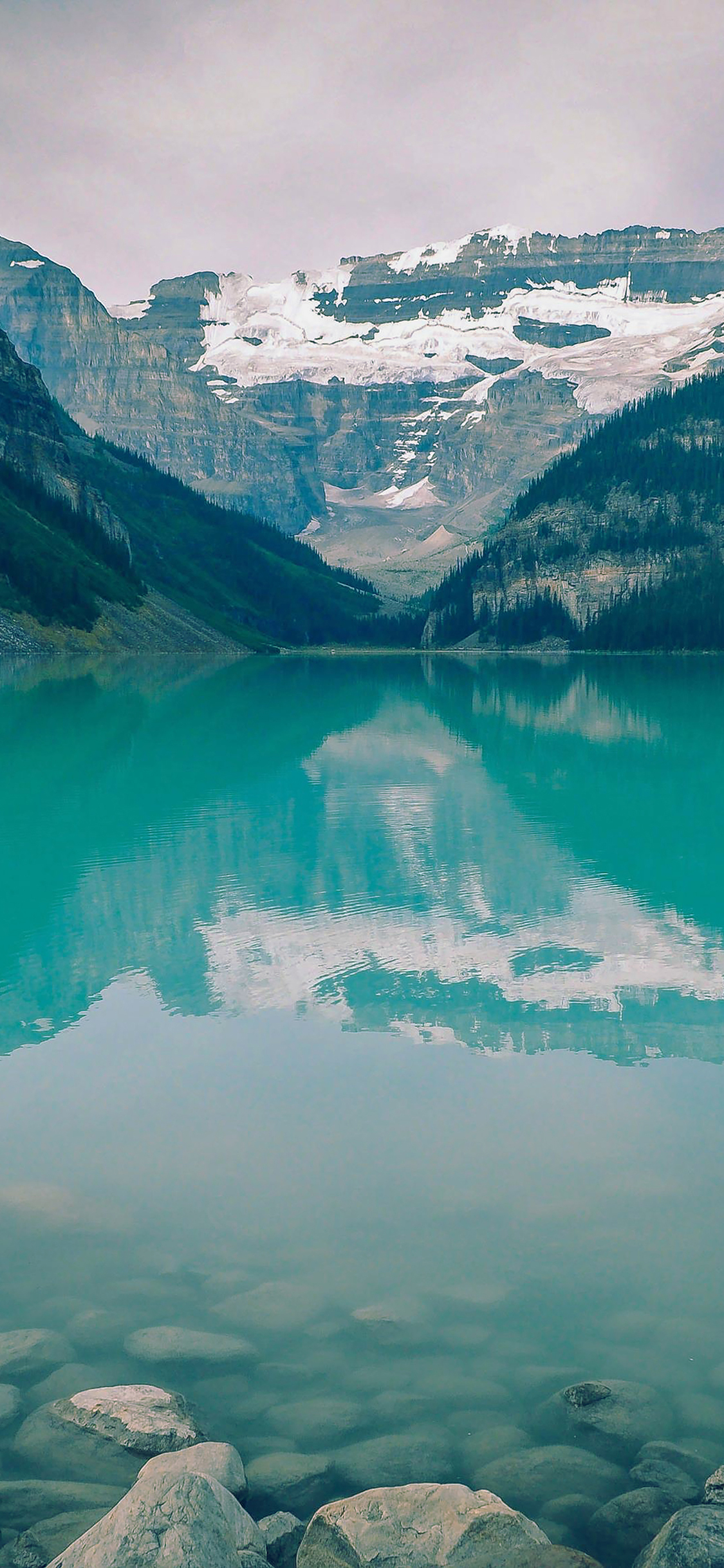 iPhoneXpapers.com-Apple-iPhone-wallpaper-mk50-canada-lake-blue-louise-green-water-nature