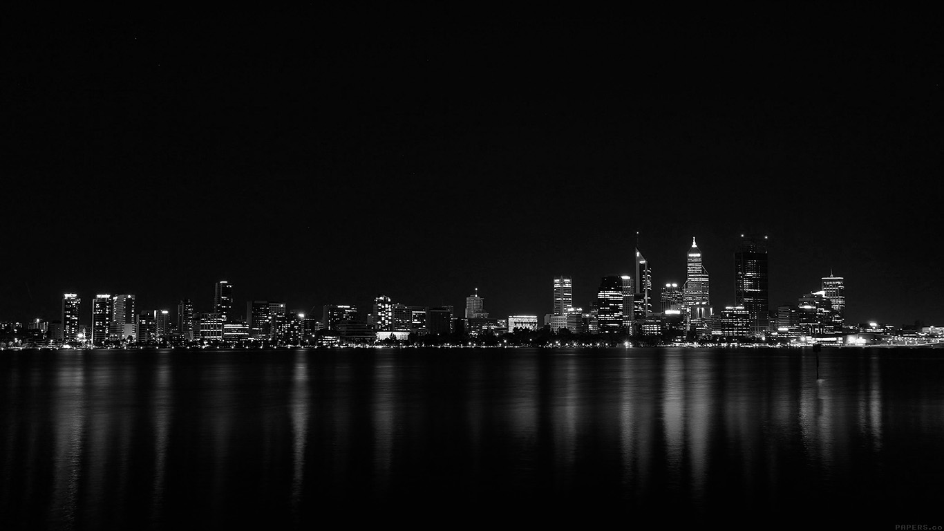 papers.co mk52 city night dark skyline architecture river 29 wallpaper