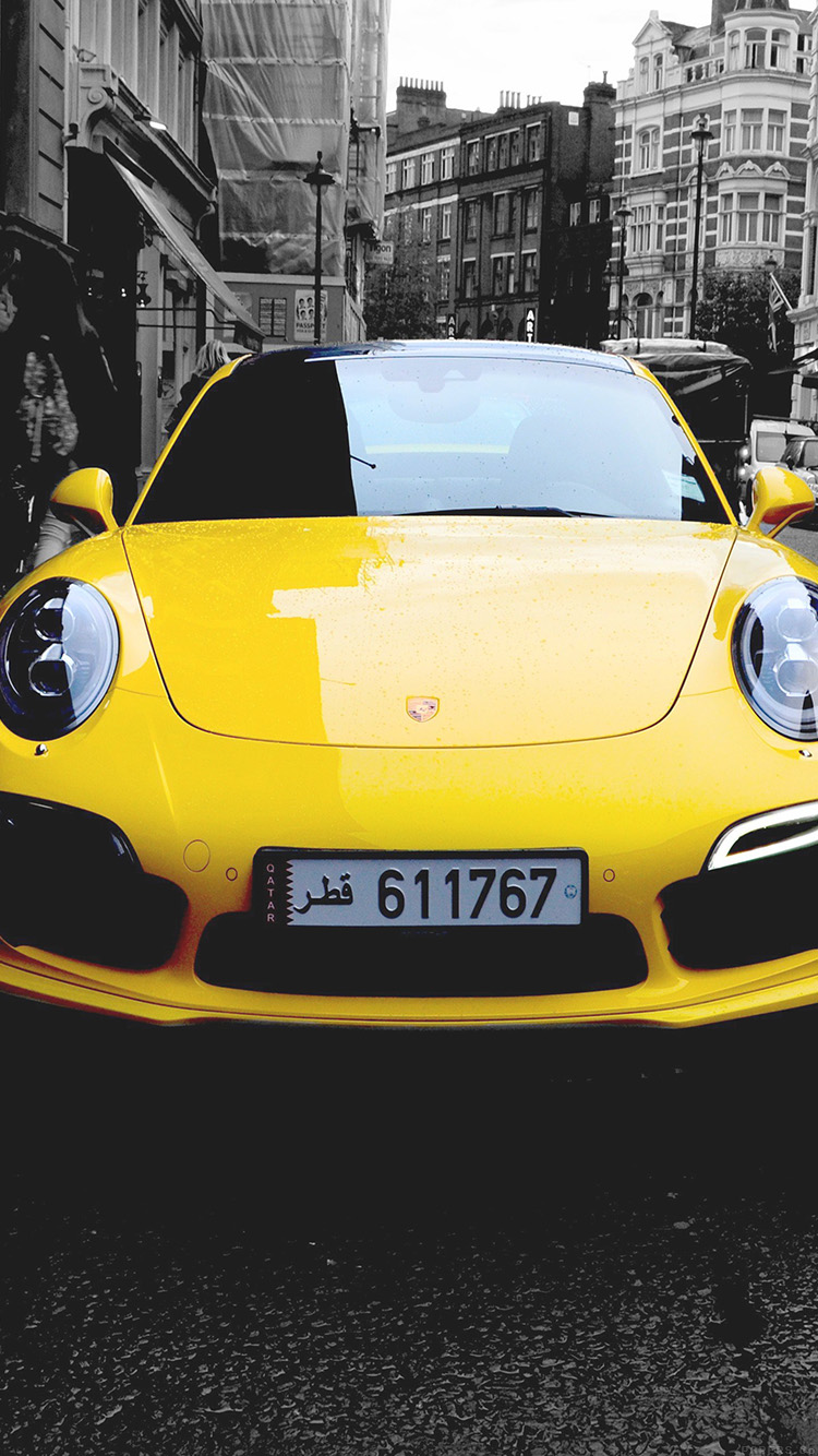 iPhone6papers.co-Apple-iPhone-6-iphone6-plus-wallpaper-mk71-porche-street-car-city-bw-yellow