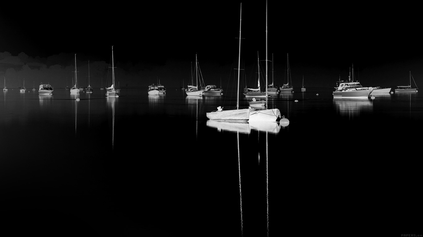 desktop-wallpaper-laptop-mac-macbook-airmk77-sea-port-boats-bw-dark-nature-minimal-wallpaper