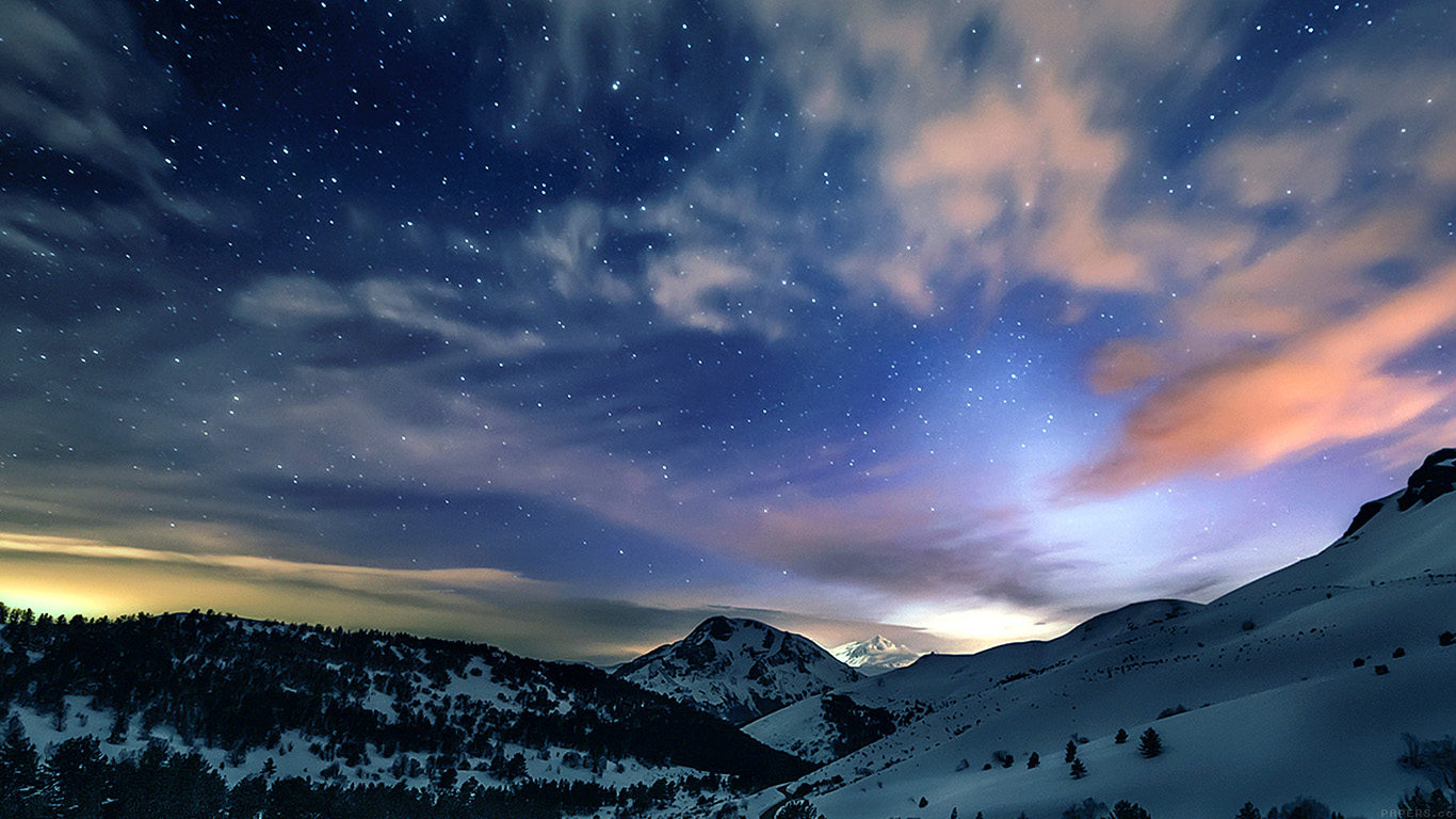 iPapers.co-Apple-iPhone-iPad-Macbook-iMac-wallpaper-mk78-aurora-star-sky-snow-mountain-winter-nature-wallpaper