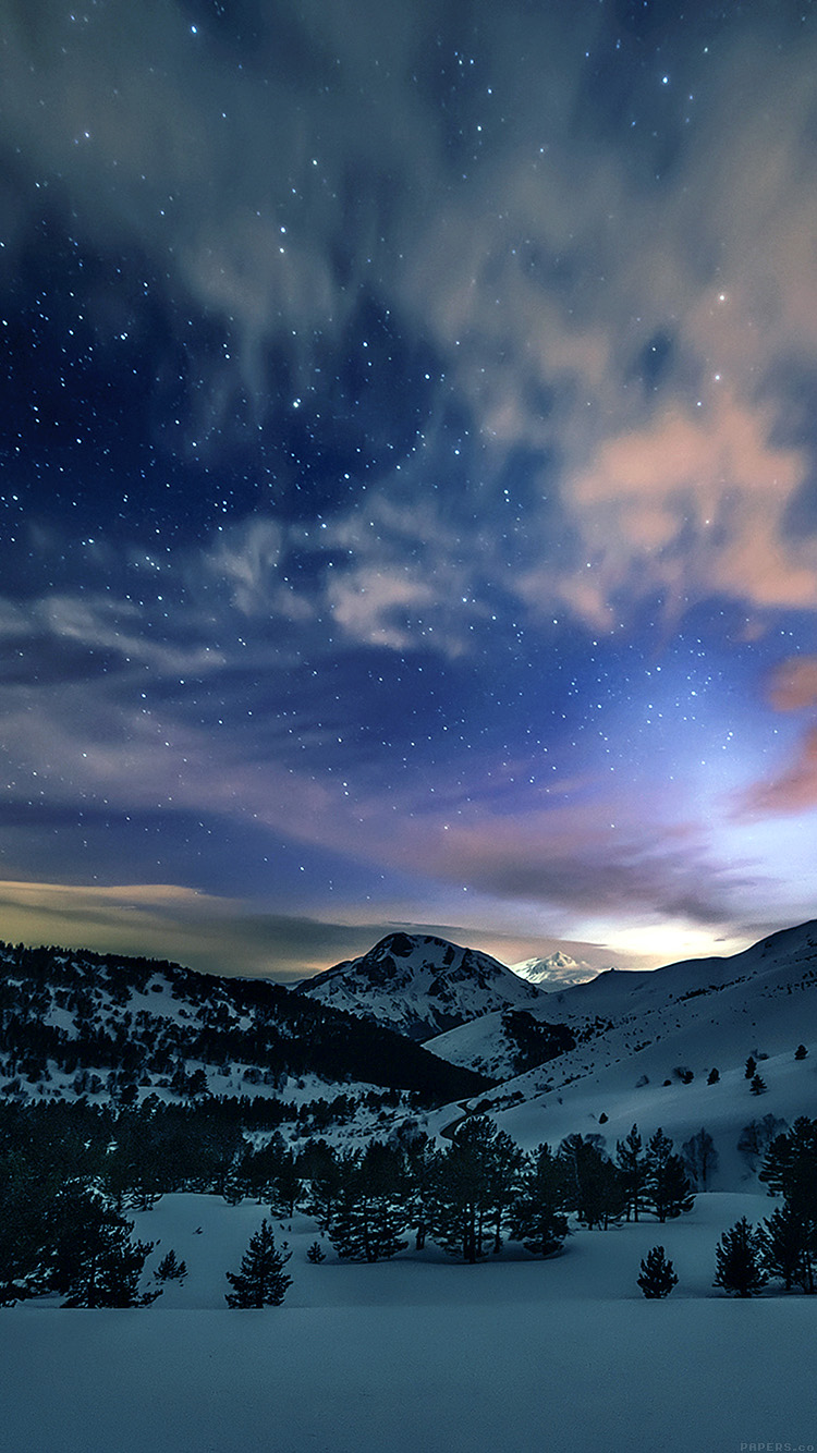 iPhonepapers.com-Apple-iPhone8-wallpaper-mk78-aurora-star-sky-snow-mountain-winter-nature