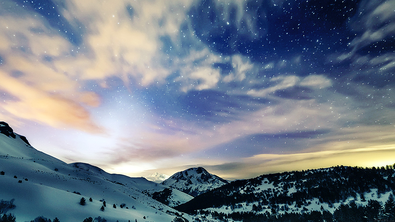 wallpaper-desktop-laptop-mac-macbook-mk79-aurora-star-sky-snow-night-mountain-winter-nature