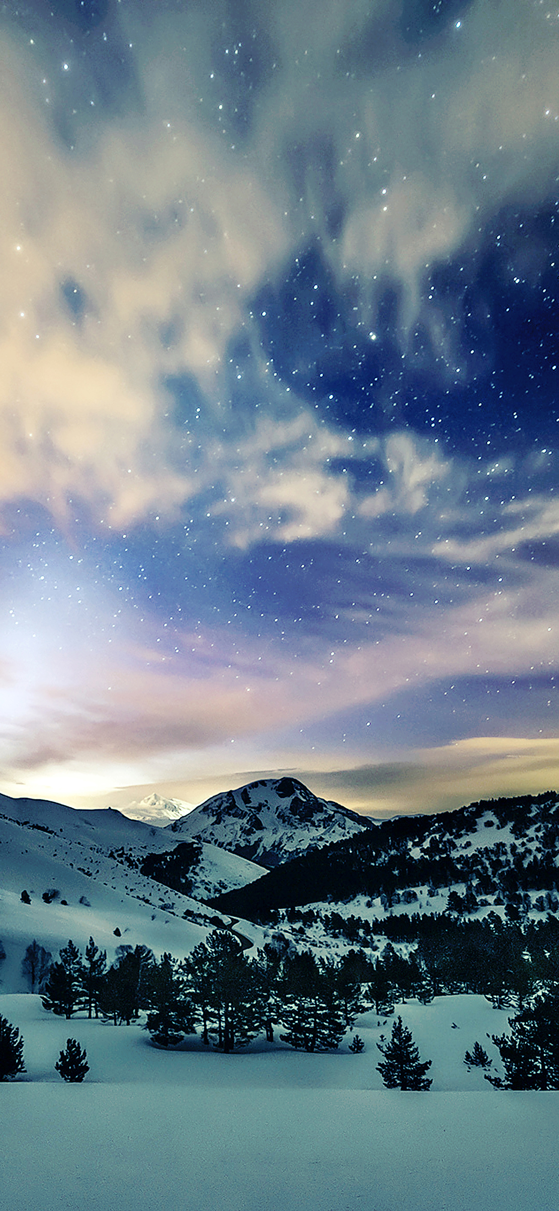 iPhonexpapers.com-Apple-iPhone-wallpaper-mk79-aurora-star-sky-snow-night-mountain-winter-nature