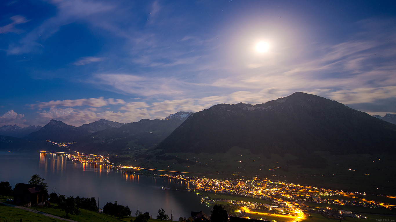 iPapers.co-Apple-iPhone-iPad-Macbook-iMac-wallpaper-mk90-lake-mountain-city-village-night-nature-wallpaper