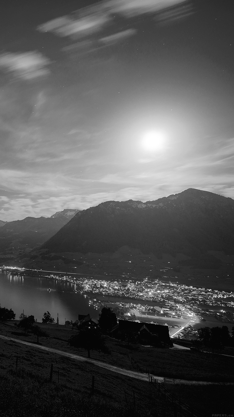 iPhone6papers.co-Apple-iPhone-6-iphone6-plus-wallpaper-mk93-lake-mountain-dark-bw-city-village-night-light-nature