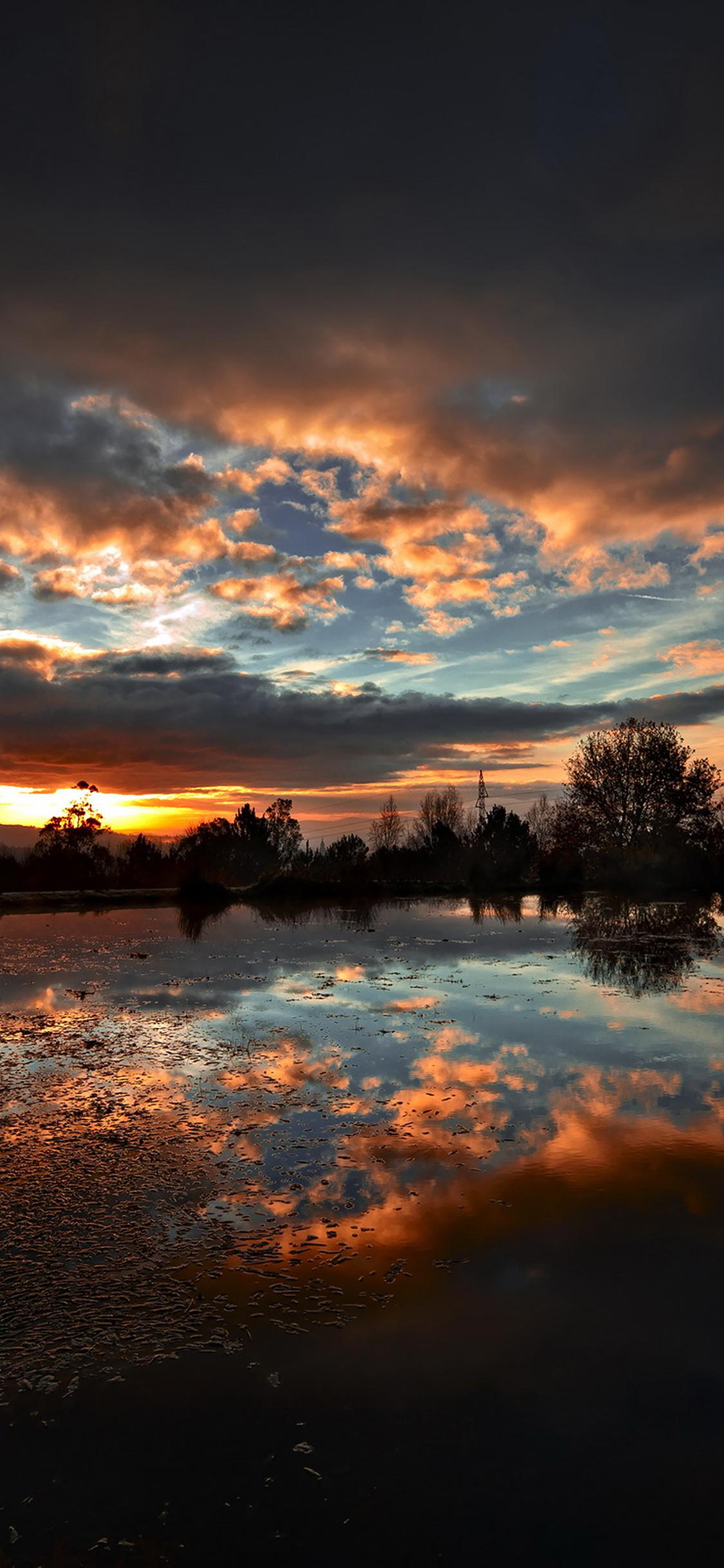 iPhoneXpapers.com-Apple-iPhone-wallpaper-ml14-sunset-lake-night-dark-nature