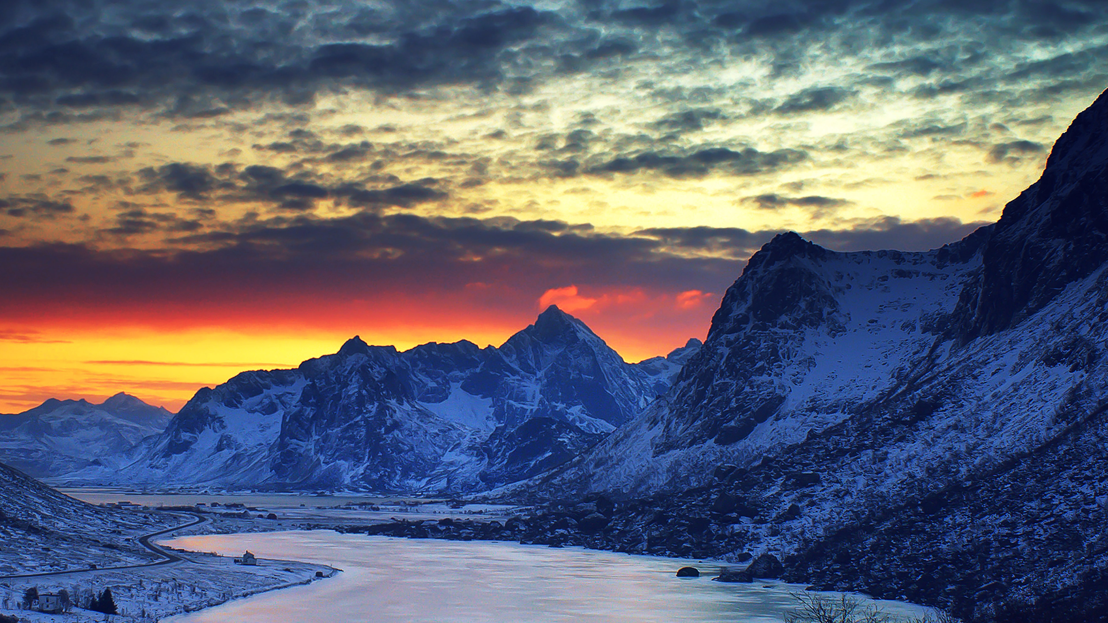ml18-snow-lake-blue-night-mountain-cold-wallpaper