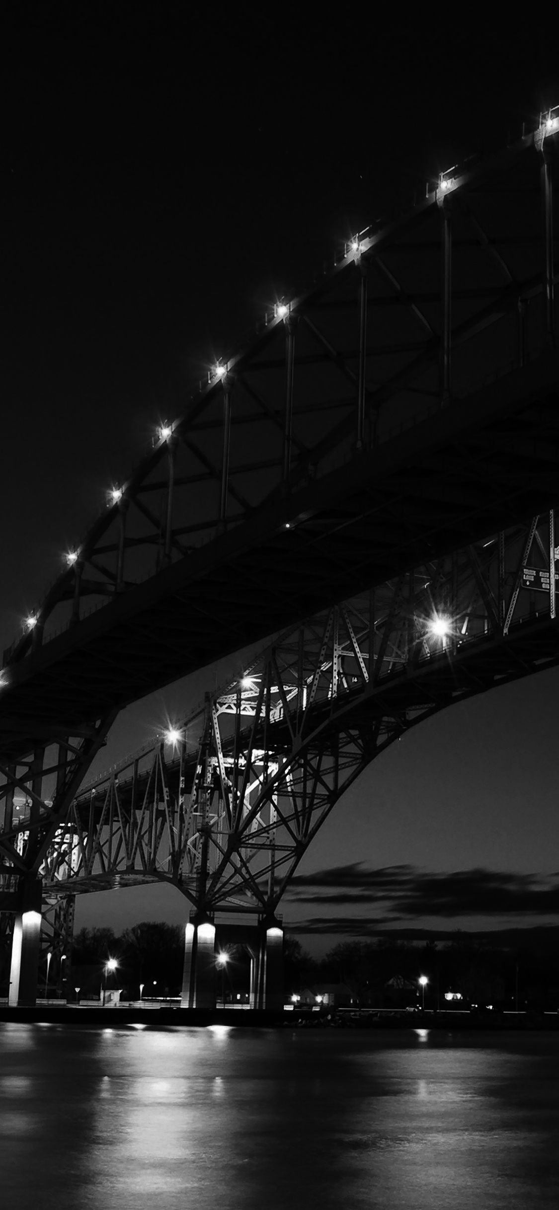 iPhoneXpapers.com-Apple-iPhone-wallpaper-ml43-bridge-to-usa-america-bw-dark-river-nature-city