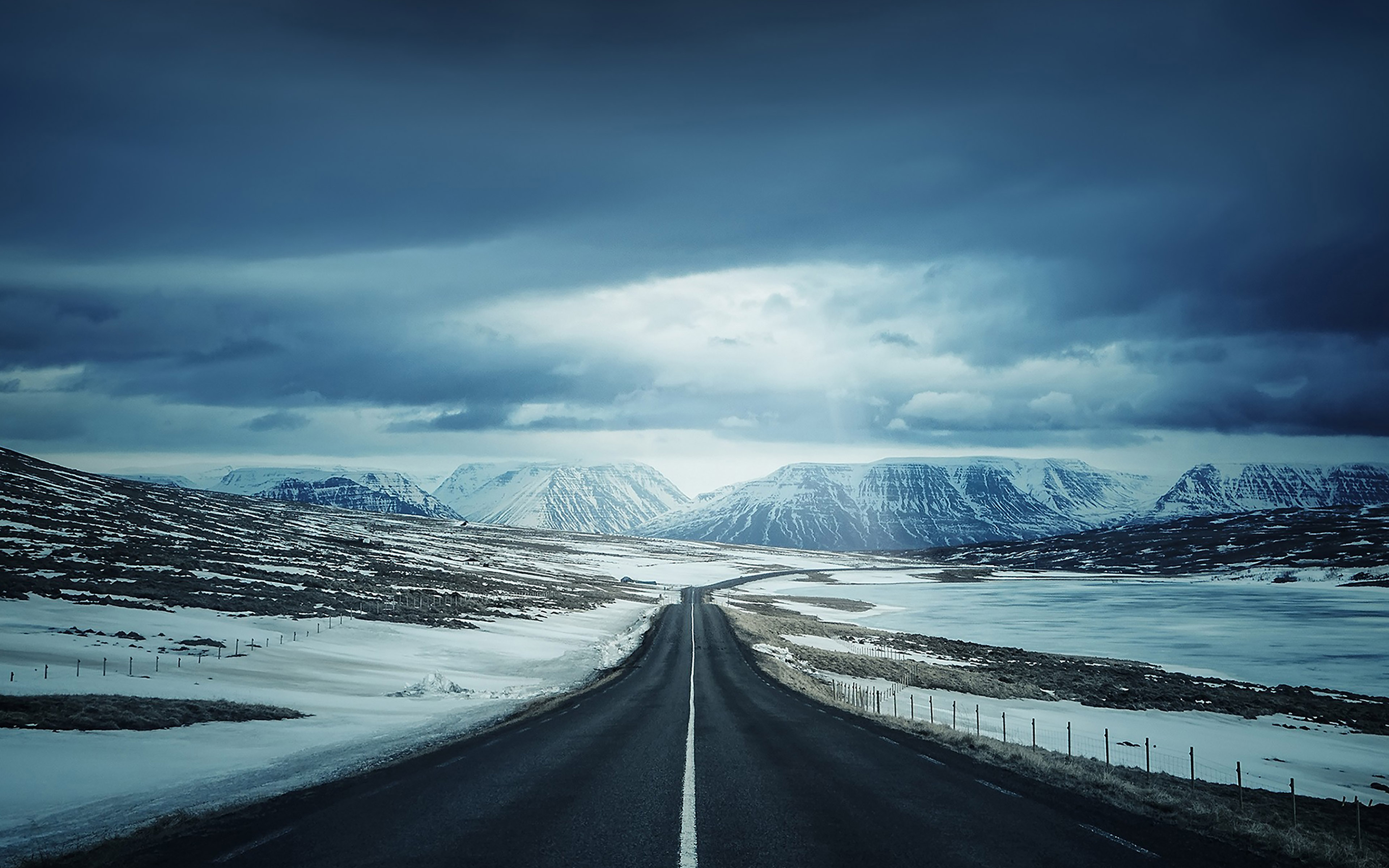 Ipad Wallpapers Hd Nature: Ml47-road-to-snow-mountain-nature-winter