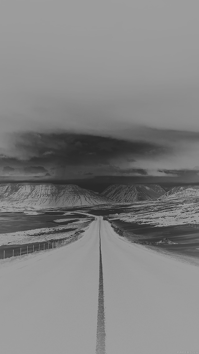 freeios8.com-iphone-4-5-6-plus-ipad-ios8-ml50-road-to-heaven-snow-mountain-bw-white-nature-winter