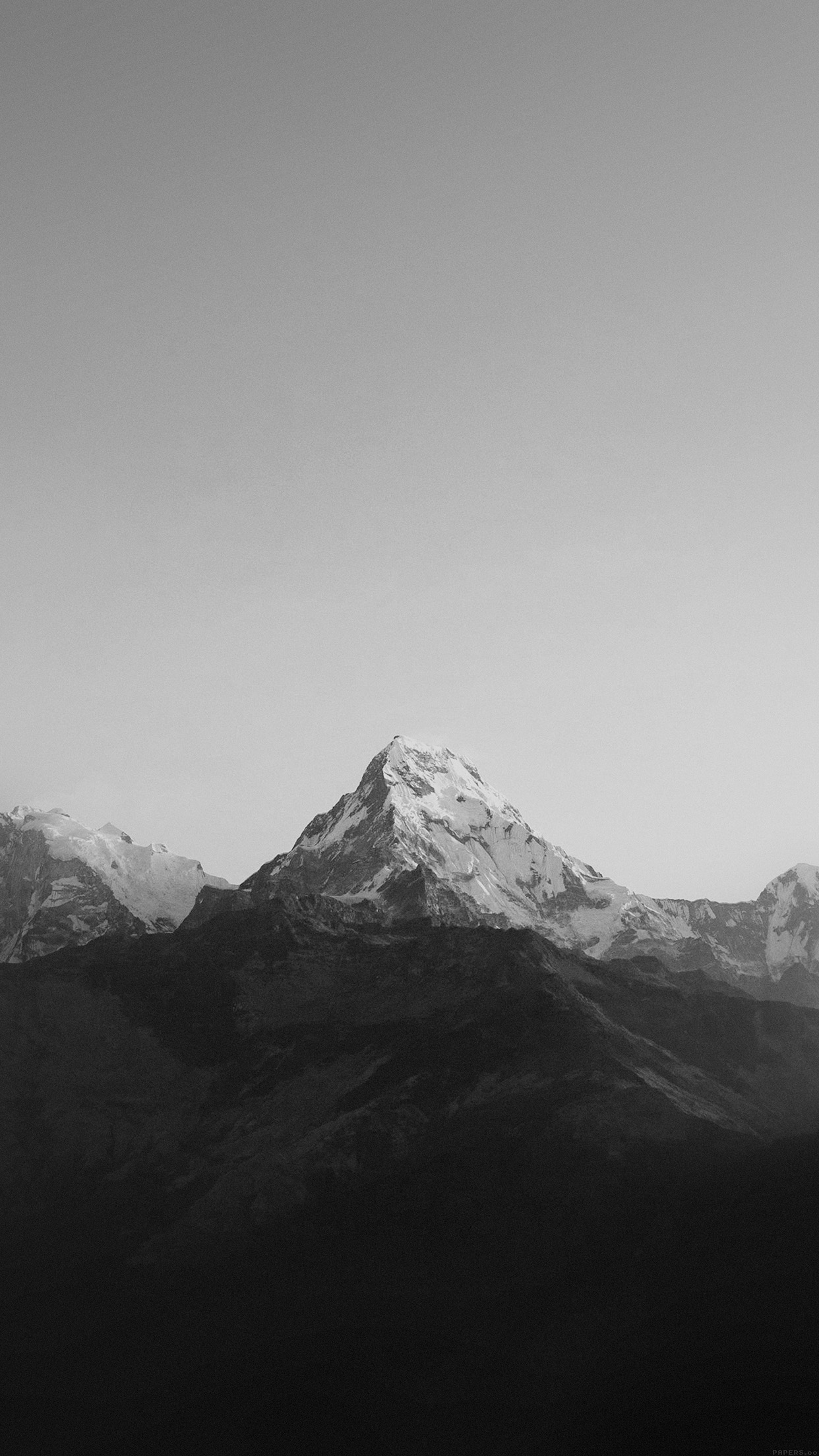 PAPERS.co | iPhone wallpaper | ml66-mountain-bw-dark-high ...