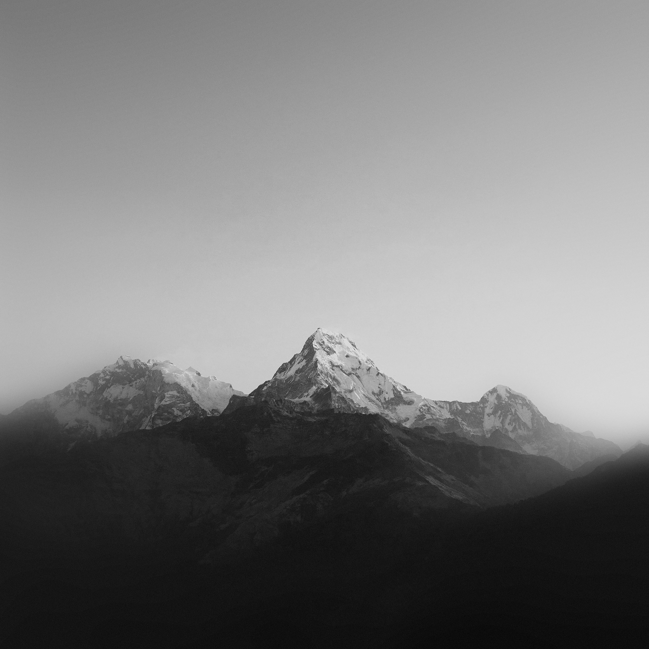 Ml66 Mountain Bw Dark High Sky Nature Rocky Papers Co