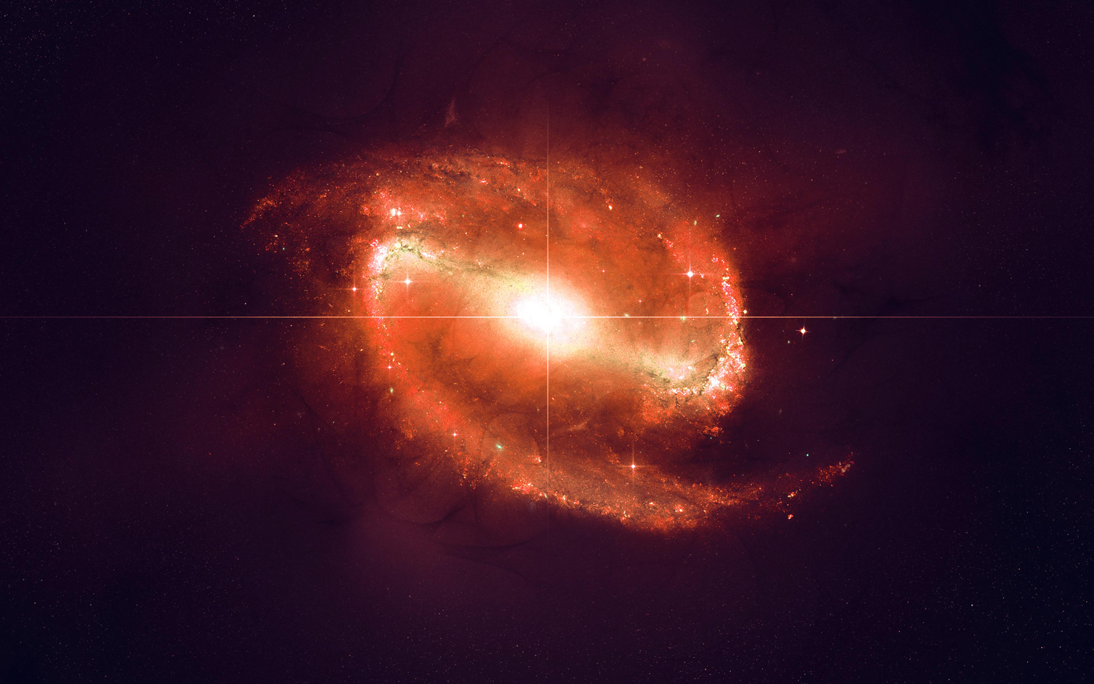 Ml70 Space Red Bingbang Explosion Star Nature Dark Wallpaper
