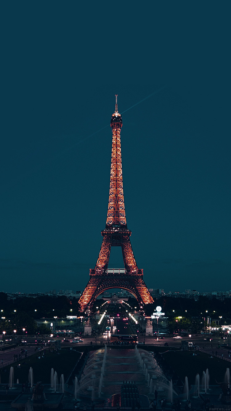 Papers.co-iPhone5-iphone6-plus-wallpaper-ml78-paris-night-france-city-blue-eiffel-tower