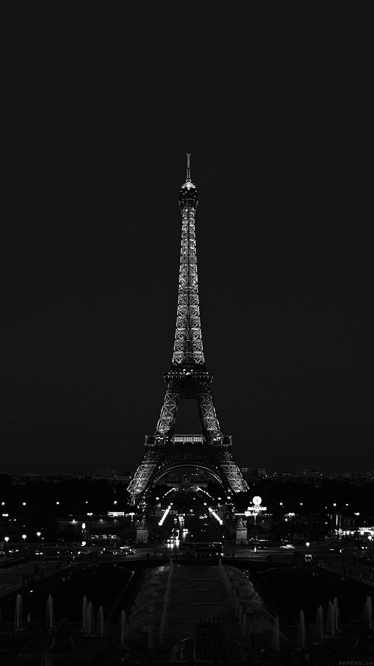 iPhonepapers.com-Apple-iPhone8-wallpaper-ml79-paris-night-france-city-bw-dark-eiffel-tower