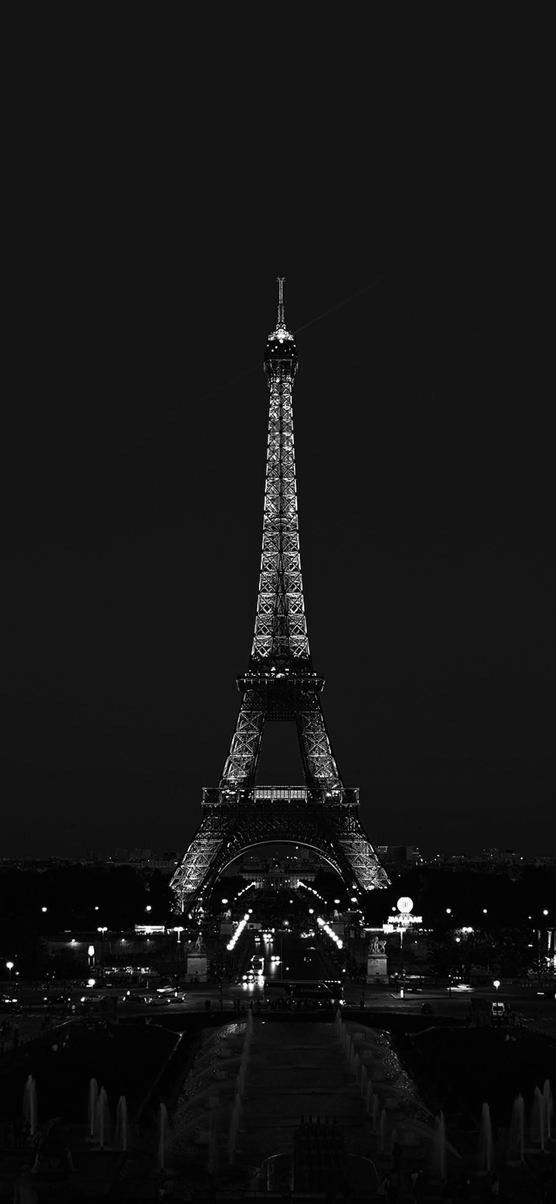 iPhoneXpapers.com-Apple-iPhone-wallpaper-ml79-paris-night-france-city-bw-dark-eiffel-tower