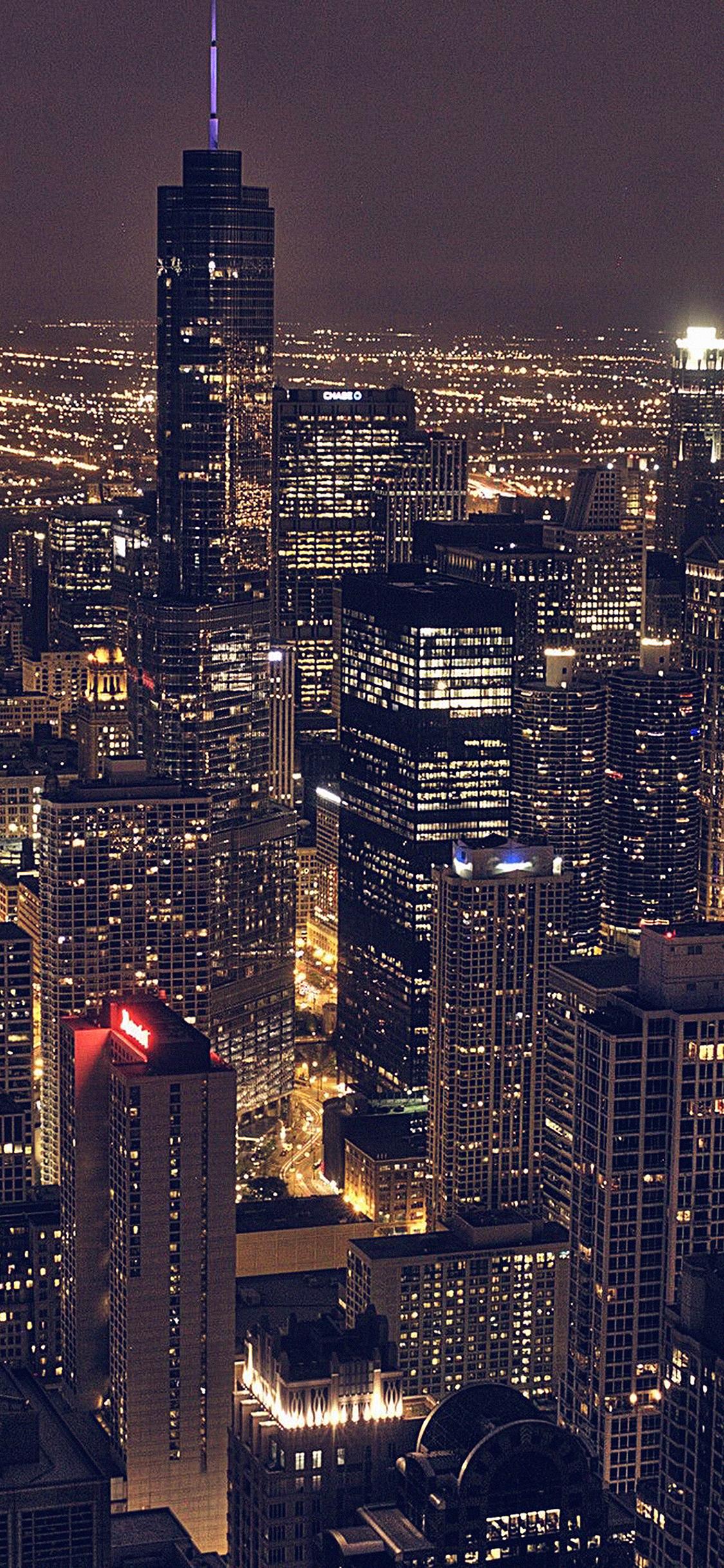 Iphonexpapers Ml83 City View Night Dark