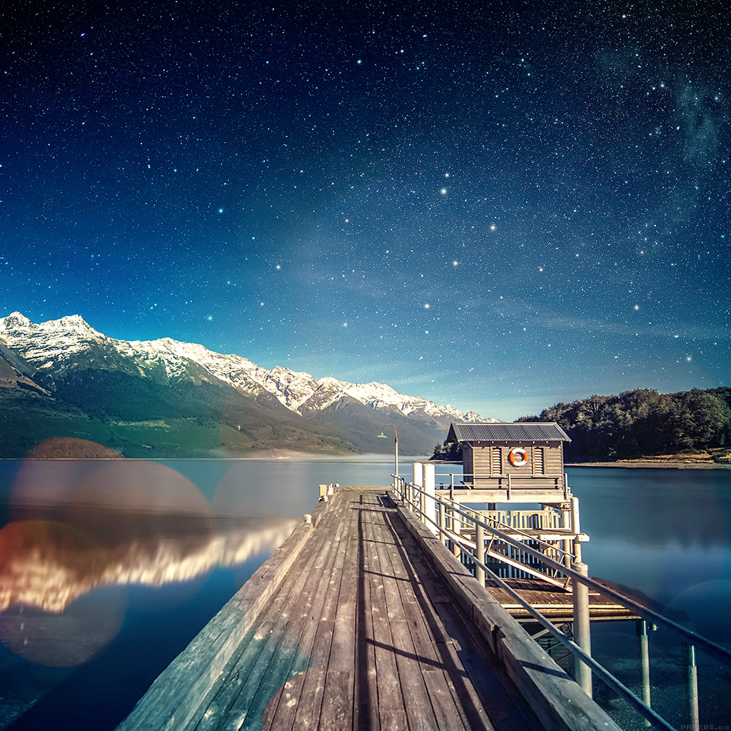 android-wallpaper-mm10-star-shiny-lake-sky-space-boat-flare-wallpaper