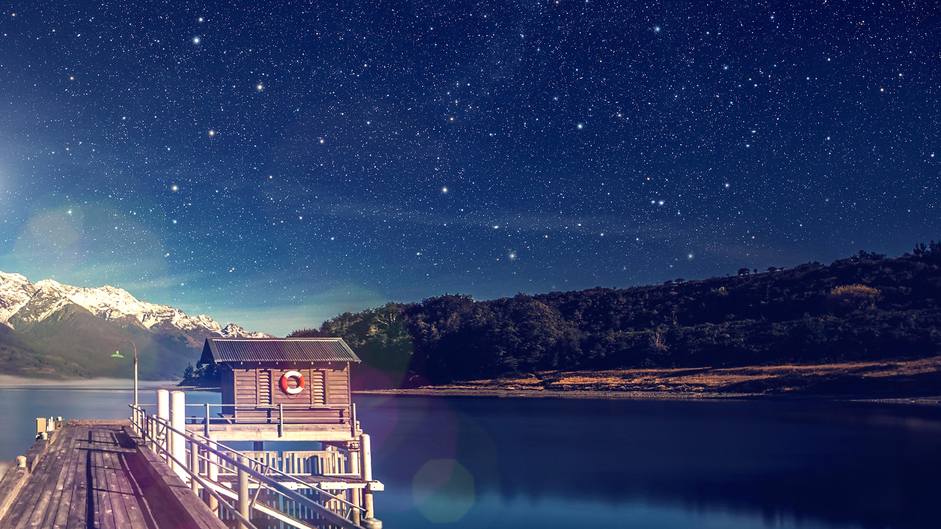mm11-star-shiny-lake-blue-sky-space-boat-flare-wallpaper