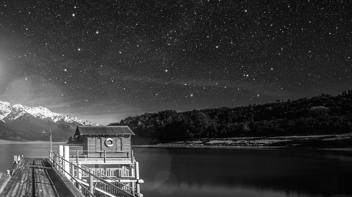 desktop-wallpaper-laptop-mac-macbook-airmm12-star-shiny-lake-dark-bw-sky-space-boat-flare-wallpaper