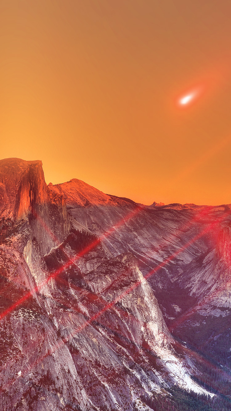 iPhone6papers.co-Apple-iPhone-6-iphone6-plus-wallpaper-mm27-yosemite-mountain-art-red-flare-sky-nature