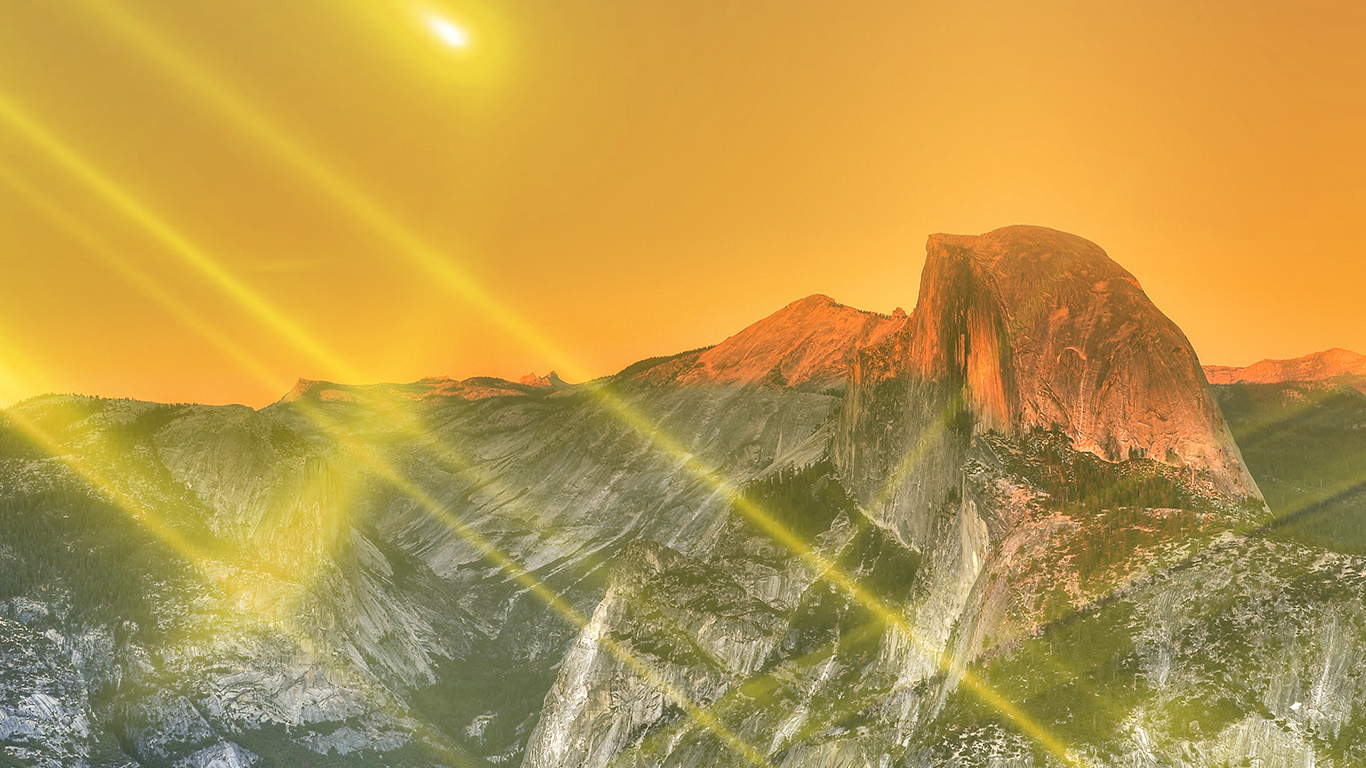 desktop-wallpaper-laptop-mac-macbook-airmm28-yosemite-mountain-art-yellow-flare-sky-nature-wallpaper