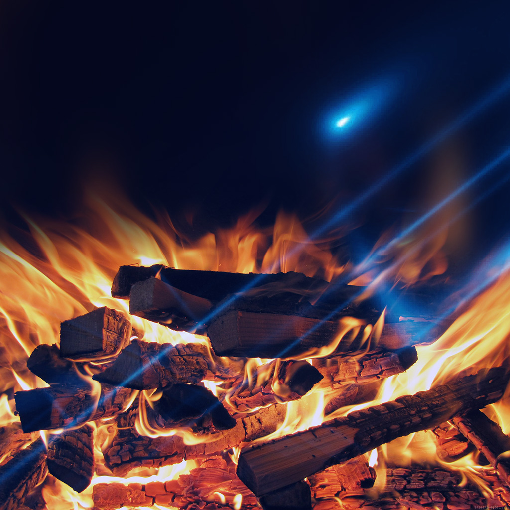 wallpaper-mm43-camp-fire-night-nature-flare-wallpaper